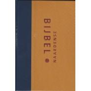 Naardense Bijbel - Formaat Royaal - oker/blauw linnen