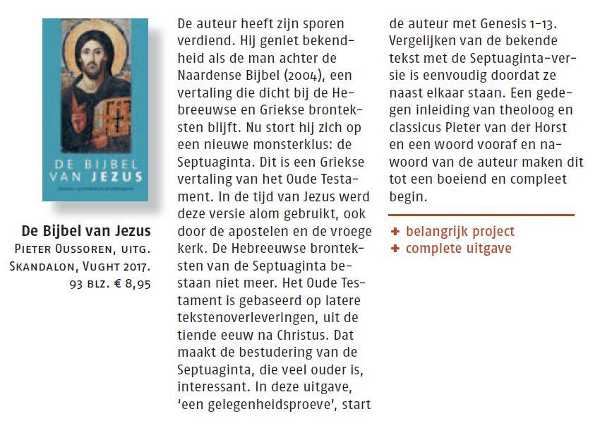 Nederlands Dagblad over Bijbel van Jezus